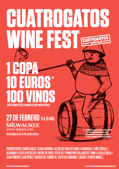 Cuatrogatos Wine Fest(ival): vino y risas. O al revés.