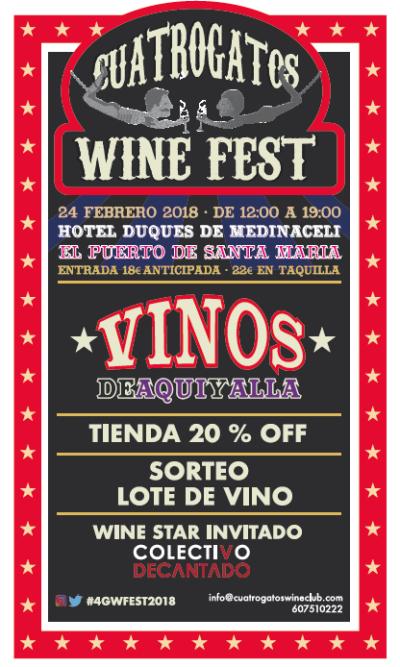 CUATROGATOS WINE FEST 2018 · ¡ya están aquí!